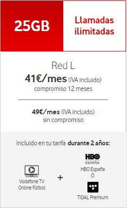Tarifa Móvil Red L HBO